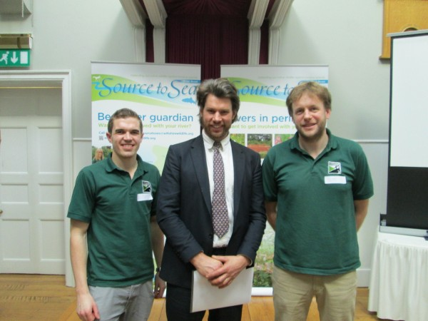 Source to sea Seminar - Salisbury Town Hall, 2013. Tree Parts working with Project Leaders Tom and Ben