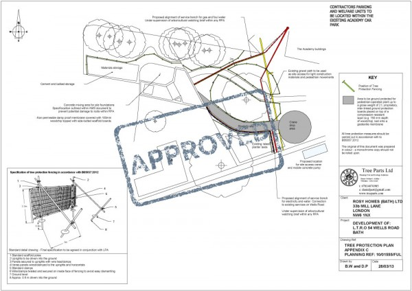Approved tree protection plan - Bridgewood Plc - Tree Parts
