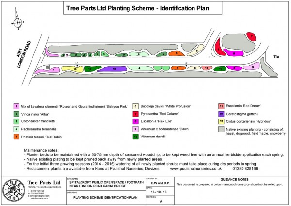 Planting Scheme Identification Plan